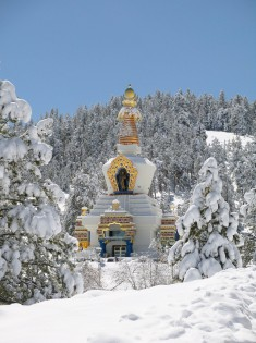Stupa in the Snow