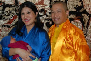The Sakyong and Sakyong Wangmo joyfully welcome Jetsun Dzedron into their family