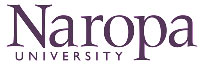 The letterhead of naropa university