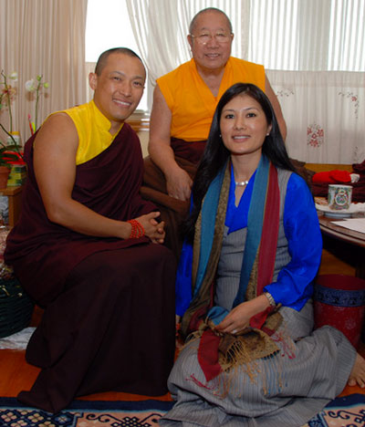 HH Penor Rinpoche with the Sakyong and Khandro Tseyang