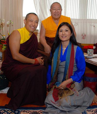 HH Penor Rinpoche with the Sakyong and Khandro Tseyang