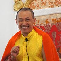 SMR - smiling, yellow shirt and orange shawl