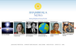 Shambhala News picture of homepage