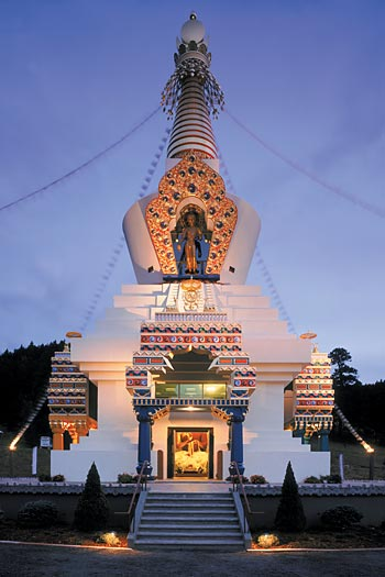 Great Stupa at night - Tim Addison