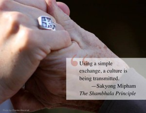 Using a simple exchange, a culture is being transmitted. SMR TSP